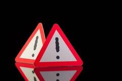 Niebezpieczeństwo znaki ostrzegawczy obraz stock