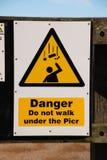 niebezpieczeństwa hastings znak Obrazy Stock