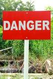 Niebezpieczeństwa signage Obrazy Stock