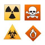 niebezpieczeństwo sygnalizuje symbole Zdjęcia Stock