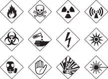 Niebezpieczeństwo symbole Fotografia Royalty Free
