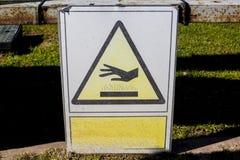 Niebezpieczeństwo wysokotemperaturowy znak Zdjęcie Royalty Free