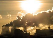 Niebezpieczeństwo! Zanieczyszczenie powietrza! Zdjęcia Royalty Free