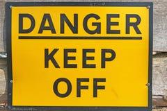 Niebezpieczeństwo znak ostrzegawczy Obrazy Royalty Free