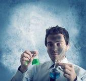 Niebezpieczna chemiczna formuła Zdjęcia Stock