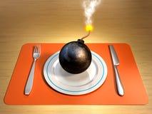 niebezpieczna dieta Obraz Stock