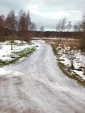 niebezpieczna droga Zdjęcia Royalty Free
