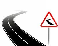 Niebezpieczna droga ilustracja wektor