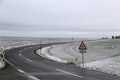 Niebezpieczna drogowa sekcja zdjęcie royalty free
