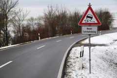 Niebezpieczna drogowa sekcja fotografia royalty free