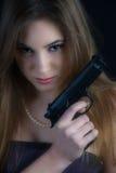 niebezpieczna kobieta Obraz Royalty Free