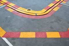 Niebezpieczna strefa obok start pasa startowego Fotografia Royalty Free