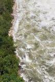 Niebezpiecznej wody spływanie Obrazy Royalty Free