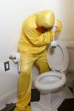Niebezpieczny gospodarstwa domowego cleaning Obraz Stock