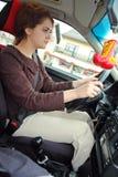niebezpieczny kierowca obraz royalty free