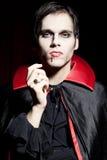 niebezpieczny męski wampir Zdjęcie Royalty Free