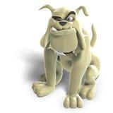 niebezpieczny psi śmieszny Toon Zdjęcie Royalty Free
