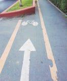 Niebezpieczny stary rowerowy pas ruchu Obrazy Stock