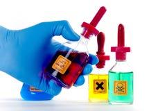 niebezpieczny substanci chemicznej lab Zdjęcie Royalty Free