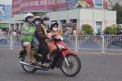NIEBEZPIECZNY zanieczyszczenie powietrza Obrazy Stock
