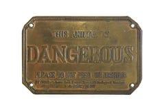 niebezpieczny znak Zdjęcia Royalty Free