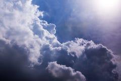Niebiański nieba słońca cloudscape Fotografia Royalty Free