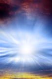 niebiańskie światło Zdjęcia Royalty Free