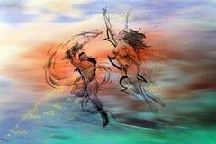 Niebiańska bitwa ilustracja wektor