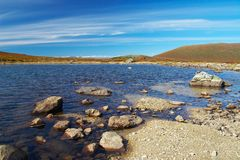 niebiańska góra niebieskiego jeziora Zdjęcie Stock