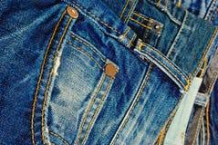 Niebiescy dżinsy. Zdjęcie Royalty Free
