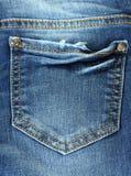 niebiescy dżinsy kieszeń Obrazy Stock