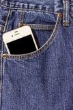 Niebiescy dżinsy kieszeń Fotografia Royalty Free
