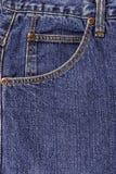 Niebiescy dżinsy kieszeń Zdjęcia Royalty Free
