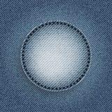 Niebiescy dżinsy okrąg Fotografia Stock