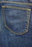 Niebiescy dżinsy rocznika kieszeni spodń tło Zdjęcia Royalty Free