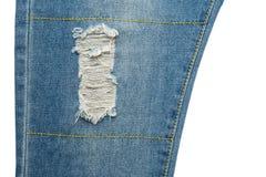 niebiescy dżinsy rozdzierający Fotografia Royalty Free