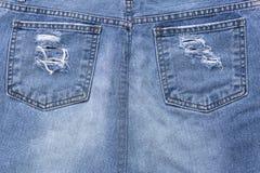 Niebiescy dżinsy spódnicy projekt obrazy stock