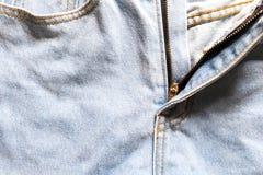 Niebiescy dżinsy tekstury tło Zdjęcia Royalty Free