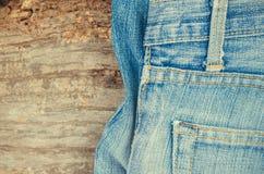 Niebiescy dżinsy tekstury tło Zdjęcie Royalty Free