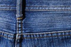 Niebiescy dżinsy tekstury tylna strona obraz royalty free
