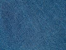 Niebiescy dżinsy tkaniny powierzchni tło, nowożytny czysty drelichowy materia Zdjęcia Royalty Free