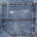 niebiescy dżinsy tylna kieszeń Obrazy Stock