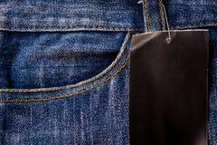 Niebiescy dżinsy, cajg tekstura Fotografia Stock