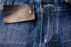 Niebiescy dżinsy, cajg tekstura Fotografia Royalty Free