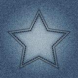 Niebiescy dżinsy gwiazda Obrazy Royalty Free