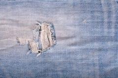 niebiescy dżinsy tekstura Zdjęcia Royalty Free