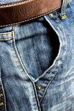 Niebiescy dżinsy trouser Obrazy Stock