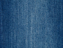 Niebiescy dżinsy tkaniny tło, nowa prosta drelichowa sukienna tekstura Zdjęcie Stock