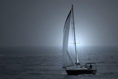 niebieska łódź Obrazy Stock