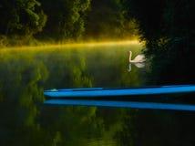 niebieska łódź Fotografia Royalty Free